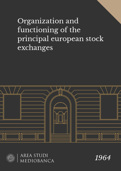 Immagine copertina - Organization and functioning of the principal european stock exchanges