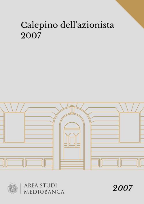 Immagine copertina - Calepino dell'azionista 2007