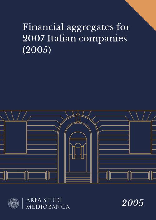 Immagine copertina - Financial aggregates for 2007 Italian companies (2005)
