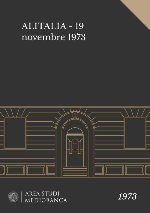 Immagine copertina - ALITALIA - 19 novembre 1973
