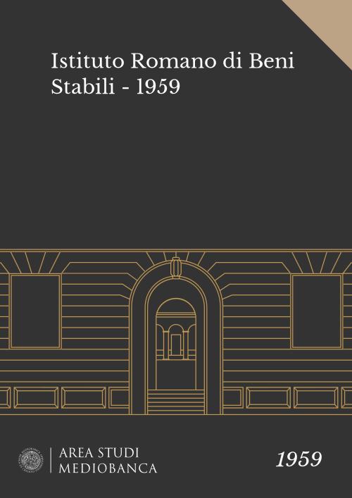 Immagine copertina - Istituto Romano di Beni Stabili - 1959