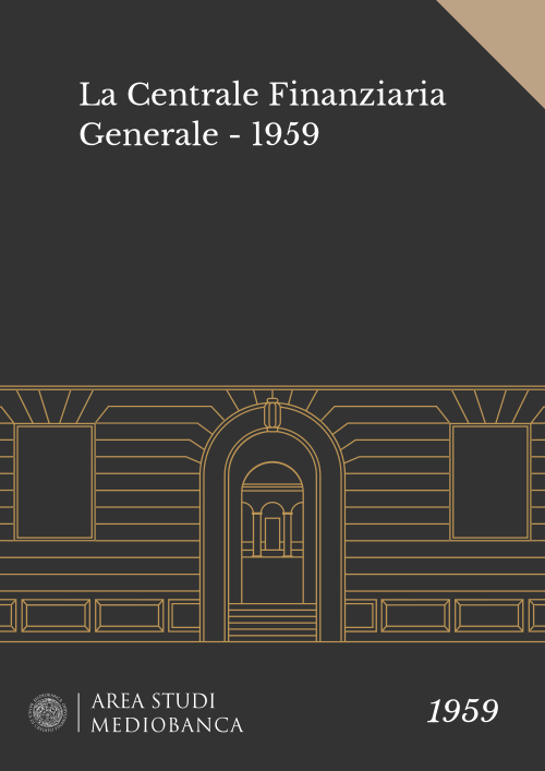 Immagine copertina - La Centrale Finanziaria Generale - 1959