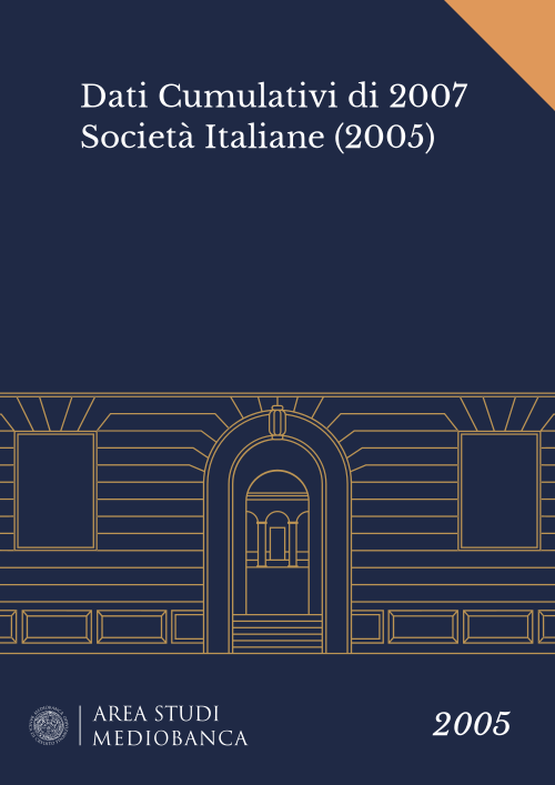 Immagine copertina - Dati Cumulativi di 2007 Società Italiane (2005)