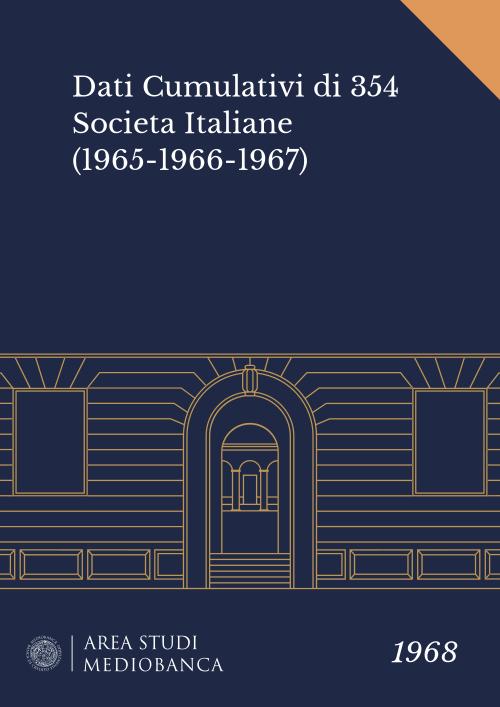 Immagine copertina - Dati Cumulativi di 354 Societa Italiane (1965-1966-1967)