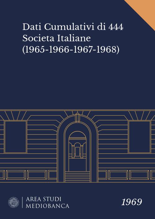 Immagine copertina - Dati Cumulativi di 444 Societa Italiane (1965-1966-1967-1968)