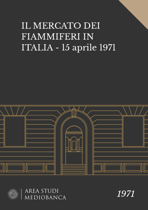 Immagine copertina - IL MERCATO DEI FIAMMIFERI IN ITALIA - 15 aprile 1971