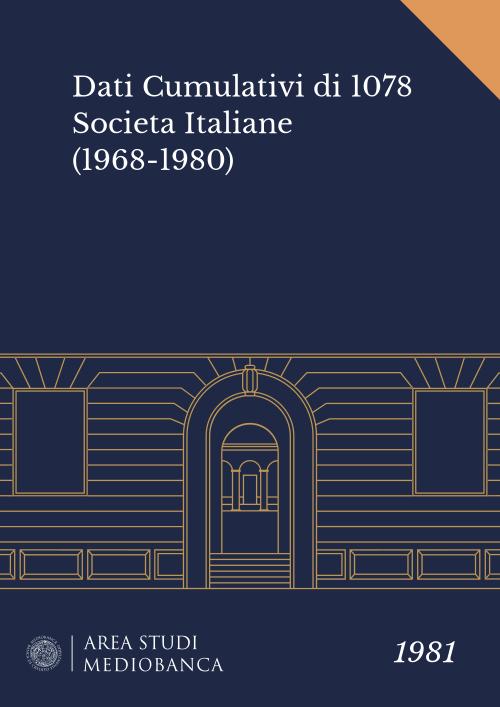 Immagine copertina - Dati Cumulativi di 1078 Societa Italiane (1968-1980)