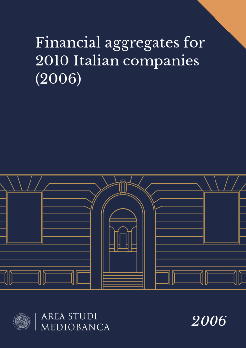 Immagine copertina - Financial aggregates for 2010 Italian companies (2006)