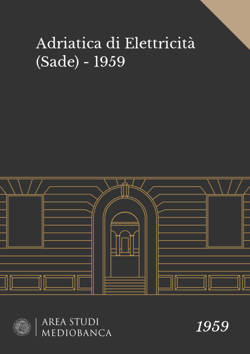 Immagine copertina - Adriatica di Elettricità (Sade) - 1959