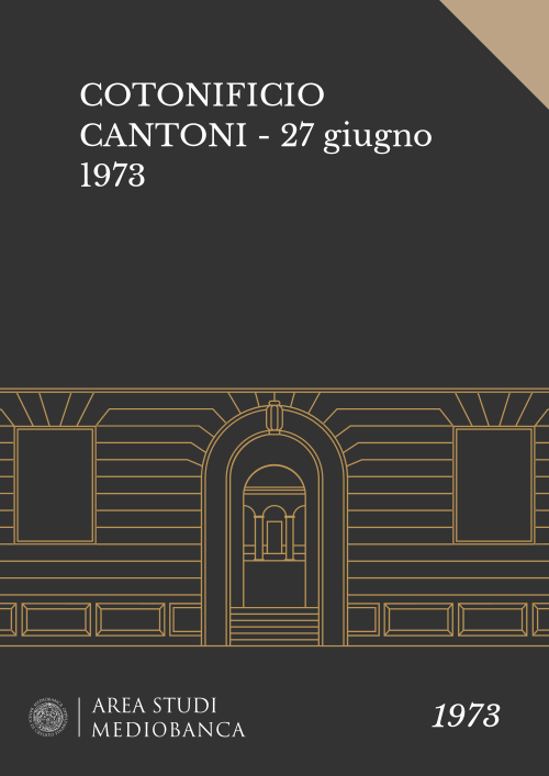 Immagine copertina - COTONIFICIO CANTONI - 27 giugno 1973
