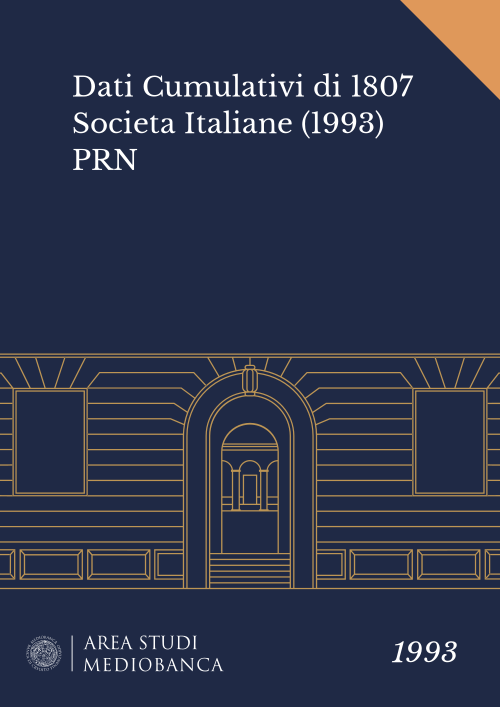 Immagine copertina - Dati Cumulativi di 1807 Societa Italiane (1993) PRN