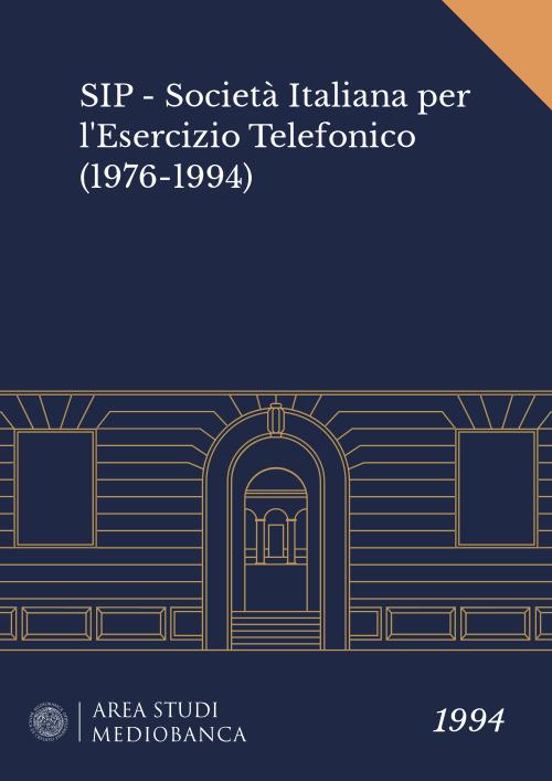 Immagine copertina - SIP - Società Italiana per l'Esercizio Telefonico (1976-1994)