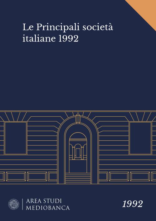 Immagine copertina - Le Principali società italiane 1992