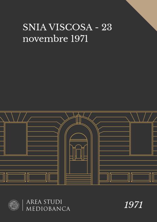 Immagine copertina - SNIA VISCOSA - 23 novembre 1971