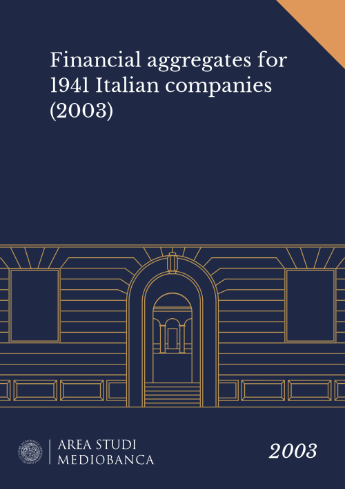 Immagine copertina - Financial aggregates for 1941 Italian companies (2003)