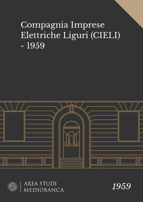 Immagine copertina - Compagnia Imprese Elettriche Liguri (CIELI) - 1959