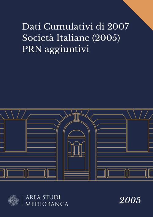 Immagine copertina - Dati Cumulativi di 2007 Società Italiane (2005) PRN aggiuntivi